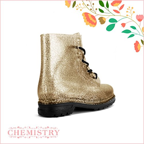 Ankle Martin Champagne Flat Boots Chemistry® Jelly Women's Rain pnxBwRFf