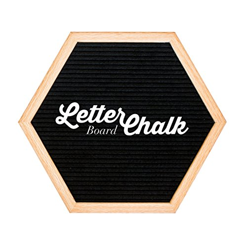 Chalkboard Sided Reversible Double (Hexagon LetterChalk - A Reversible Changeable Letter Board Small Framed Chalkboard Sign Combination for Rustic Home Decor)
