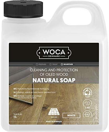 WOCA 511110A Holzbodenseife, weiß, 1 L