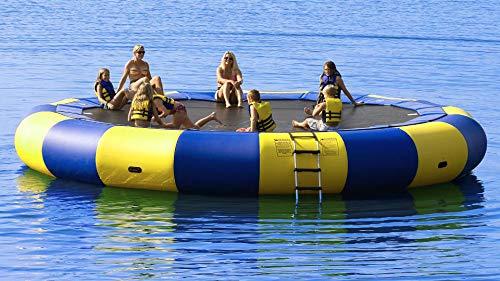 Foammaker Inflatable Water Trampoline Series Splash Padded Water Bouncer Inflatable Bouncer Jump Water Trampoline Bounce Swim Platform for Water Sports 17FT(5m)
