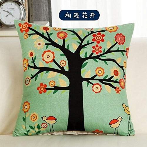 Simple modern pillowcase square pillowcase bedside car sofa cushion@M-Love Little Penguin_40*40cm (set of core)