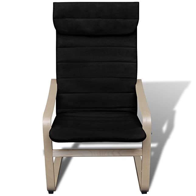 Anself Schwingsessel Freischwinger Schaukelstuhl Relaxstuhl Sessel Mit  Fußhocker Aus Birkenholz Belastbarkeit 90 Kg 2 Farbe Optional