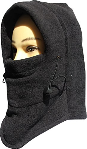 Andyshi Winter Snowboard Face Hat Fleece Hood Ski Mask Wool Beret Balaclava Black
