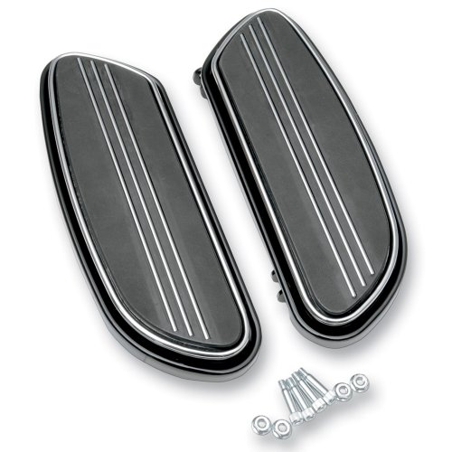 (Black Streamliner Styled Front Floor Board Kit Harley-Davidson Softail Touring -)