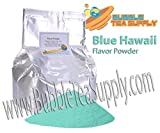 BEST-SELLING BUBBLE TEA SUPPLY BLUE HAWAII SMOOTHIE FLAVORED POWDER BOBA BUBBLE DRINK PREMIUM AWARD WINNING CUSTOMERS #1 CHOICE 50 SERVINGS (BLUE HAWAII BUBBLE TEA POWDER)