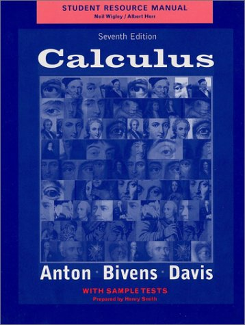 Student Resource Manual to accompany Calculus, 7e with Sample Tests
