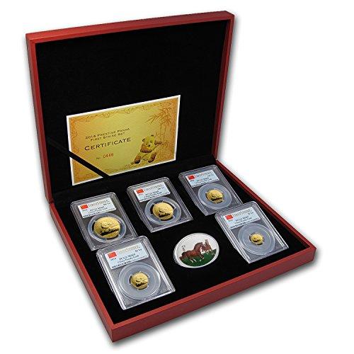 CN 2014 China 5-Coin Gold Panda Prestige Set MS-69 PCGS (FS) MS-69