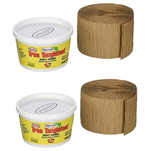 (Tanglefoot Ortho Tree Care Kit - Tree Insect Barrier & Tangle-Guard Wrap Combo - 2 Pack)