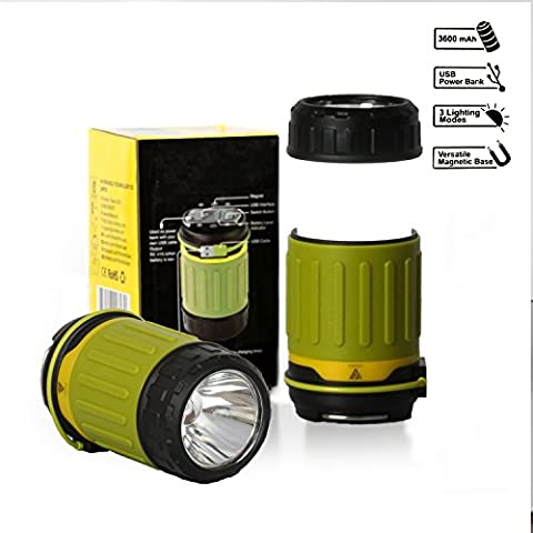 VITCHELO CL30. LED Lantern, Rechargeable Camping Lamp & 3600mAh Power