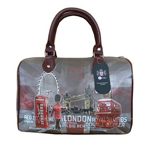 SELLER BD013 London Barel Collage UK Bag qxndBCRw