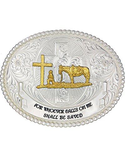 Montana Silversmith Faith and Wisdom Western Belt Buckle with Christian Cowboy - - Buckle Faith