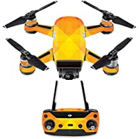 Skin for DJI Spark Mini Drone Combo - Orange Texture| MightySkins Protective, Durable, and Unique Vinyl Decal wrap cover | Easy To Apply, Remove, and Change Styles | Made in the USA