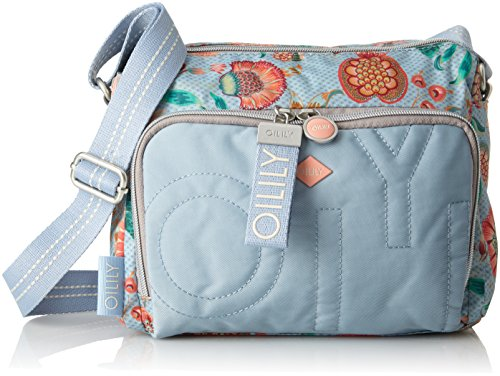 Oilily Charm Sunflower Shoulderbag Shz, Shoppers y bolsos de hombro Mujer, Azul (Light Blue), 12x18x24 cm (B x H T)