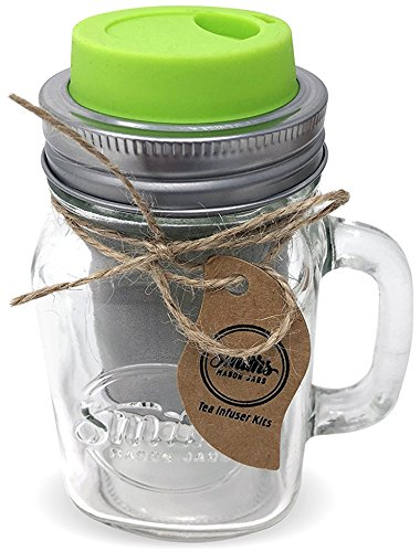 Smith's Mason Jars Cold Brew Coffee Maker and Tea Infuser with Mug and Drinking Lid by Smith's Mason Jars (Image #9)