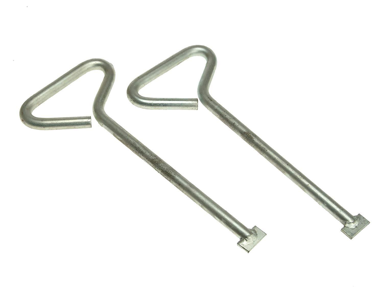 2 x Manhole Cover Lift Keys Pack of 2 12in