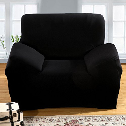 uxcell Sofa Covers Chair Covers Seat Cover Stretch Couch Protector Slipcover Home Furniture Slipcovers 1 Seater 35-55 Inches Black - 5 Five Seat Sofa