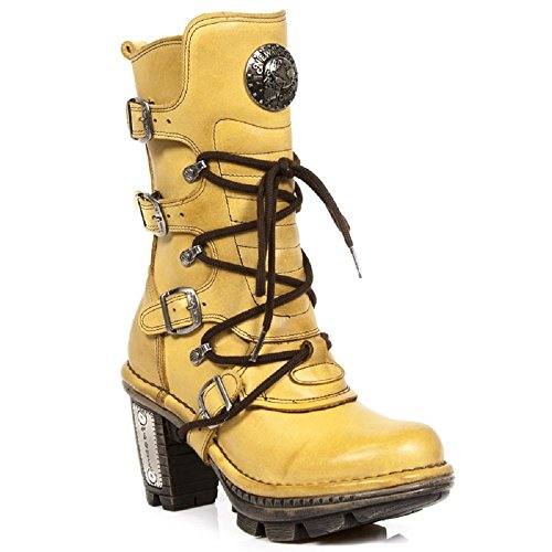 New Rock Neotrail Women's Leather Gold Boots M.NEOTR005-S42 Yellow sale shop for clearance latest free shipping extremely free shipping wholesale price U1c1VrwyS