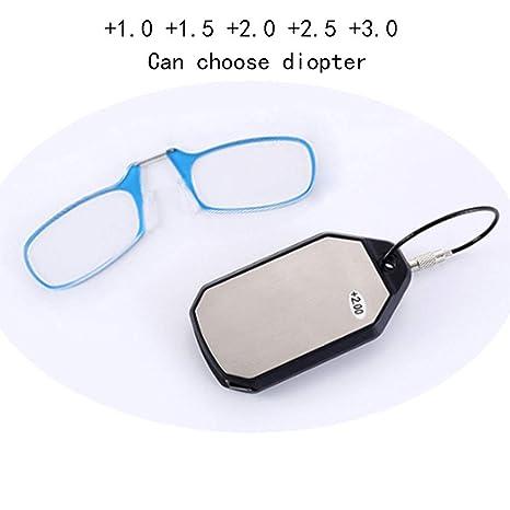 Mini Gafas De Lectura/Clip para Llavero Presbyopia SOS Gafas ...