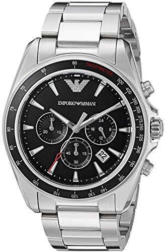 Emporio Armani Men's AR6098 Sport Silver Quartz Watch ()