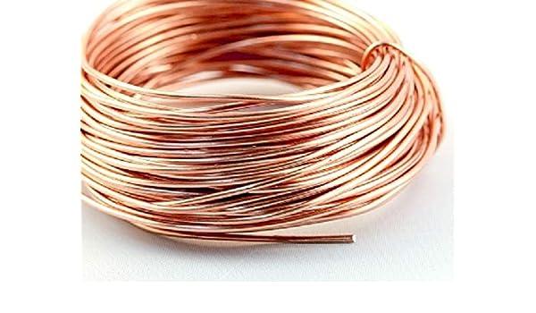 alambre para manualidades 2 Alambre de cobre en blanco Draht sin barniz 5 mm 750 metros di/ámetro de 0,1 Cu 99