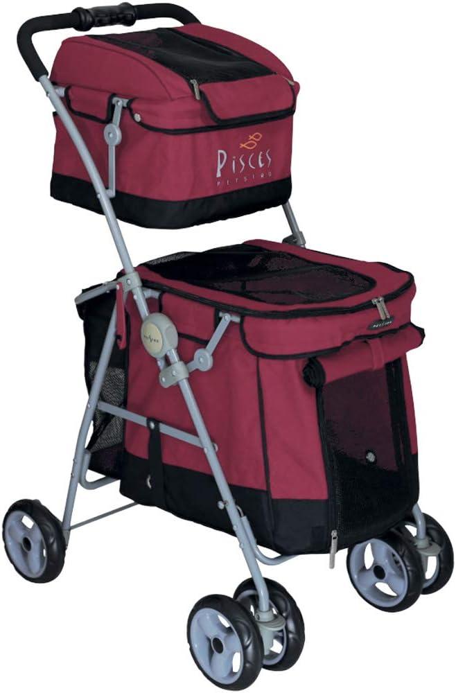 Cochecito de mascotas Perro Duo con 2 ETAGES Buggy Rojo