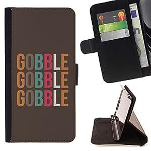 - Queen Pattern FOR Samsung Galaxy S4 IV I9500 /La identificaci????n del cr????dito ranuras para tarjetas tir????n de la caja Cartera de cuero cubie - gobble food text minimalist