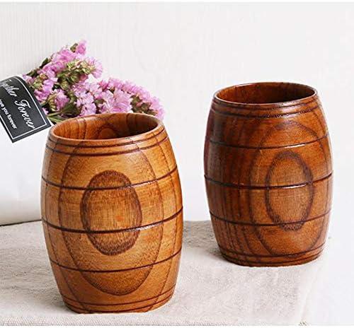 DishyKooker Nordische Art-Fass-Form-hölzerne Schale für das Bier-Wasser-Trinken Household