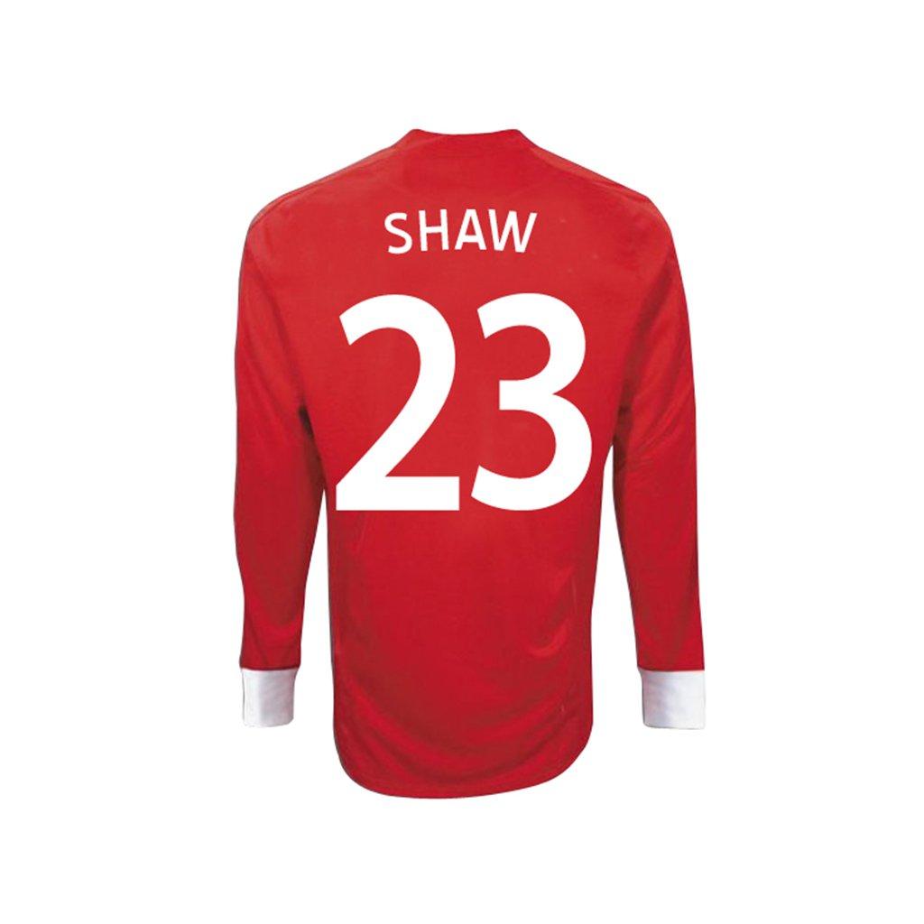 Umbro SHAW #23 England Away Jersey Long Sleeve/サッカーユニフォーム イギリス アウェイ用 長袖 背番号23 ショー B00M0A7QB4   50-52-2XL