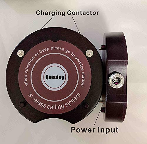 Wireless Paging System 20 Coaster Pagers+1 Keypad Queue Number Call Restaurant Wireless Calling System for Restaurant Church Food Truck Coffee Shop Office (20 pagers +1 Keypad Caller)