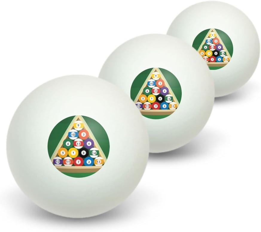 Bolas de billar y Triángulo – Mesa de billar, tenis de mesa PING PONG BOLA 3 unidades: Amazon.es: Deportes y aire libre
