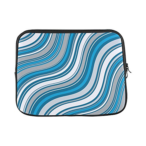Design Custom Blue Pattern Sea Surface Aqua Abstract Sleeve Soft Laptop Case Bag Pouch Skin for MacBook Air 11