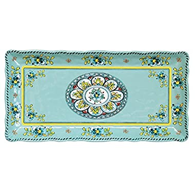Le Cadeaux 10  x 5  Madrid Biscuit Tray, Turquoise