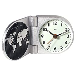 Bai World Trotter Solid Aluminum Travel Alarm Clock, Landmark