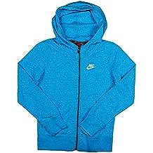 Nike Girl's Sportswear Gym Vintage Full Zip Hoodie Blue