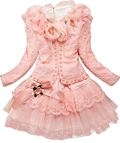 Toddler Pageant Outfits (Baby Girls 3 Piece Set Cardigan Clothes Princess Tutu Dress Outfit (2-3Years, Pink))
