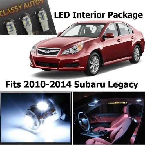 Subaru Legacy Interior (Classy Autos White LED Lights Interior Package for Subaru Legacy (6 Pieces))