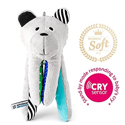Whisbear Baby Sound Machine - The Best Sleep Soother on the Market - No More Sleepless Nights and Sleep Deprivation with this Award Winning White Noise Teddybear