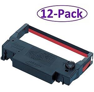 Bixolon (GRC-220BR) 12-Pack KD02-00057A Black/Red Ribbon Cartridge for SRP-275 & SRP-270