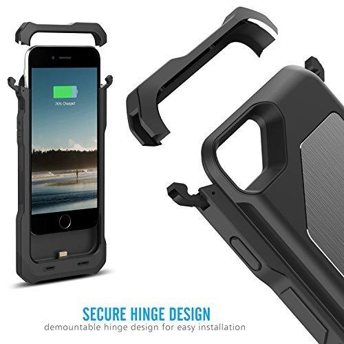 [Apple MFi Certified] MoKo iPhone 6 Batterie Chargeur Etui - Etui Housse de Protection avec Chargeur de Batterie Externe Rechargeable 3500mAh pour iPhone 6 4.7 Pouces, NOIR