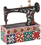 Jim Shore for Enesco Heartwood Creek Vintage Sewing Machine Ornament, 3-Inch