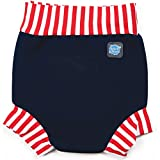 Happy Nappy Baby and Toddler Swim Diaper, Navy Red