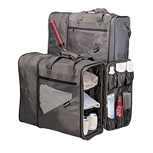 Grey Cross Fit Gym Bag, 14-Inch, Adjustable Strap, Expandable, Carry On, Sport
