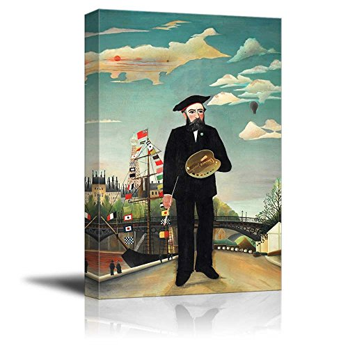 wall26 - Self Portrait by Henri Rousseau ()