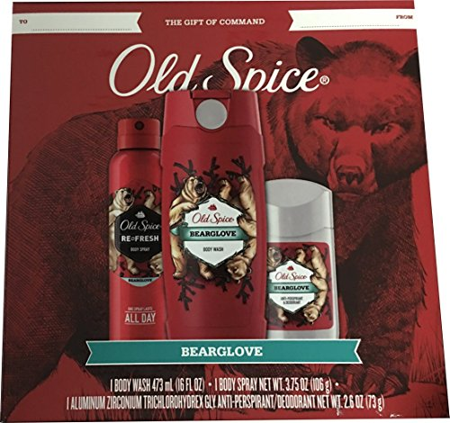 Old Spice 3 pcs Gift Set – Body Wash, Antiperspirant and Body Spray (Bearglove)