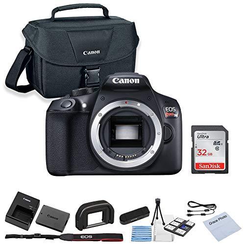 CanonEOS Rebel T6 DSLR Camera (Body Only) + 32GB SanDisk Memory + Shoulder Bag + Camera Deluxe Starter Kit (Digital Camera Body)