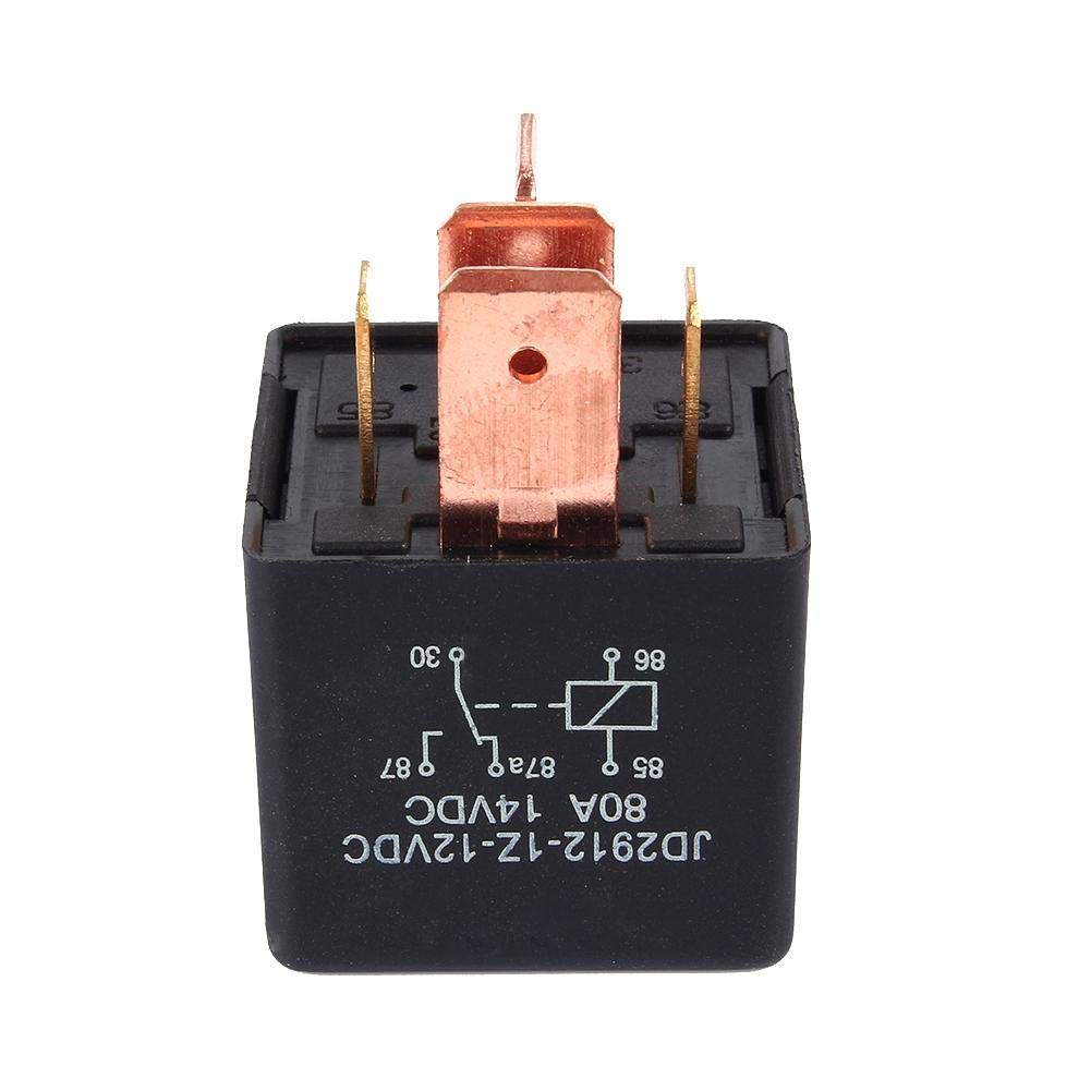 DC 12V 80A 5 Pin Relay Car Current Relay AMP SPDT Relay Durable Automobile Relay Heavy Duty for Automobile Vehicle Van Boat Truck Motor