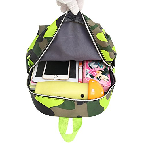 TeMan Kids Backpack Kindergarten Cartoon Schoolbag (Green Camo) by TeMan (Image #5)