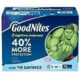 GoodNites Bedtime Underwear for Boys (Size 4 - 8 Boys - 74 ct.)