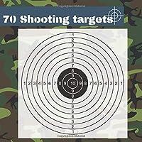 "70 Shooting Targets: 8.5"" x 8.5"" | Silhouette black | firearms, airsoft, BB, rifles, pellet guns , archery |"