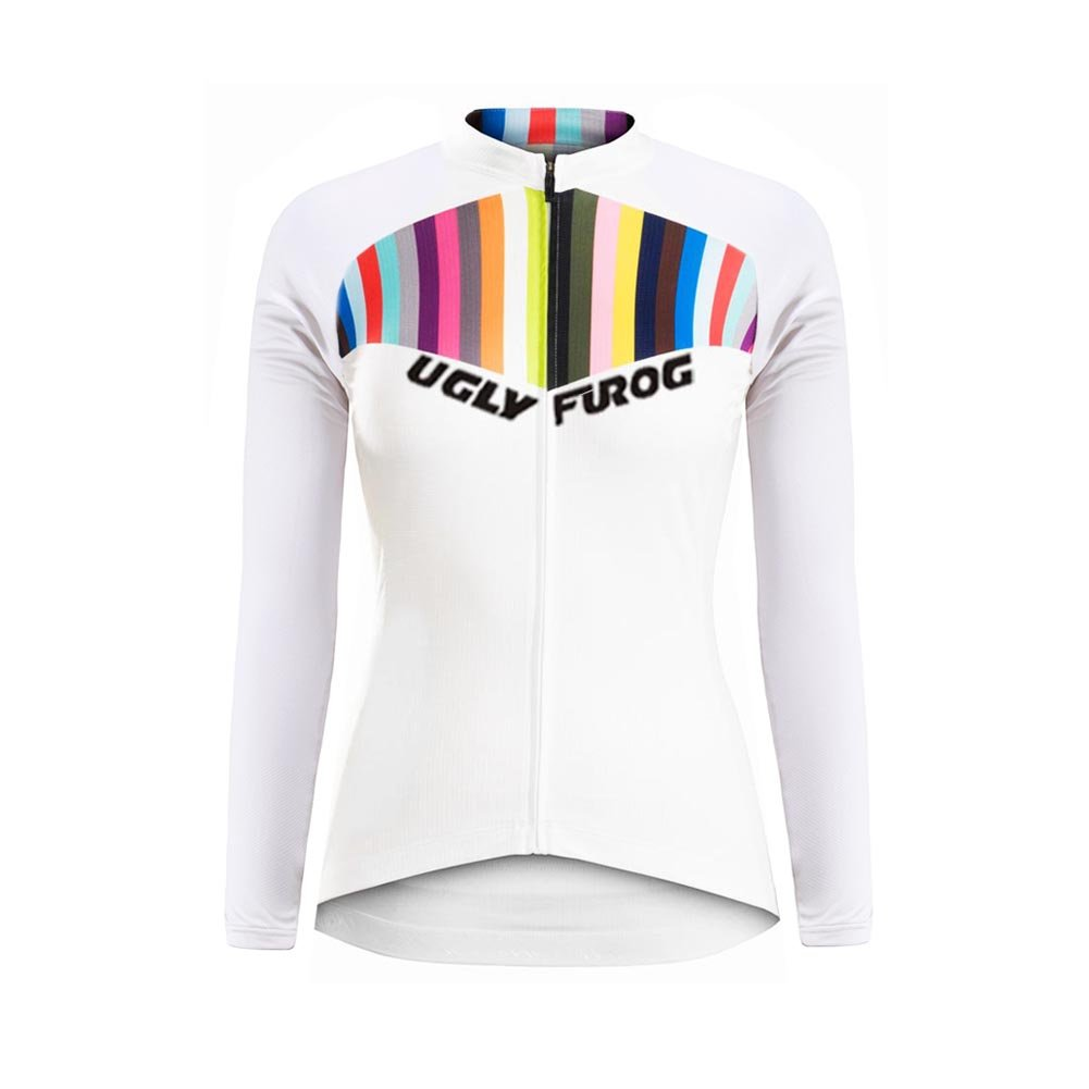 Uglyfrog 2018 Newest Winter With Fleece Women Outdoor Sports Cycling Long Sleeve Cycle Jersey Bike Shirt Bicycle Top Triathlon Clothes